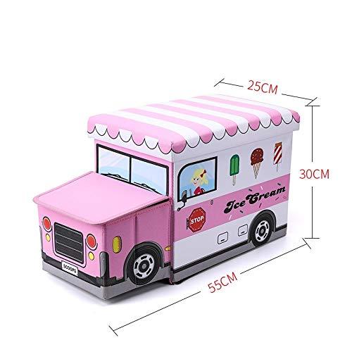 ZXXFR Wasmand Opvouwbare wasmand, kinder-roze ijs winkelmandje met handgreep, inklapbaar, gemakkelijk te dragen, geschikt voor slaapkamer, waskeuken