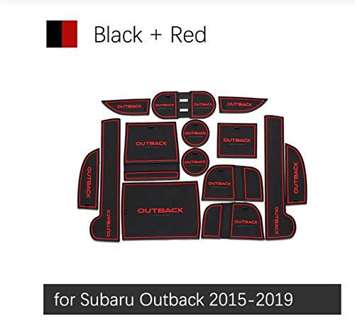 linfei rutschfeste Gummi Gate Slot Cup Matte Für Subaru Outback 2015-2019 Zubehör Aufkleber