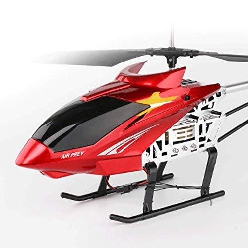 SSBH 75Cm RC con Control Remoto for helicóptero Grande Interno de 3.5 Canales for Vuelo RC con dirección y Luces LED Control Remoto Grande Carga de aeronave Resistencia de aeronave (Color : Rojo)