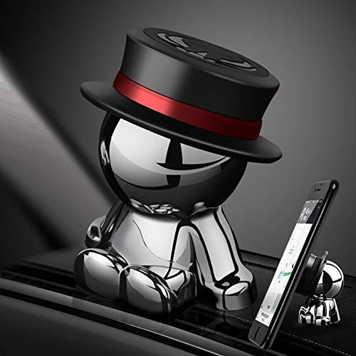aokway 車載スマホホルダーダッシュボードクリップ携帯ホルダーiphone スタンド可愛360度回転|創意プレゼント(ブラック)
