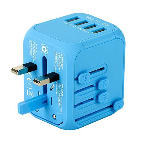 海外変換プラグ 4USBポート コンセント 充電器 変換 旅行 電源プラグ 2019年モデル 世界200ヶ国以上対応 YVELINES