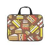 Cartoon Kuchen Brot Muster Doppelseitig Gedruckt Laptophülle Schutzhülle Wasserabweisend Neopren Laptop Hülle Tasche Trendige Laptop Bag für Studenten White 13 Zoll