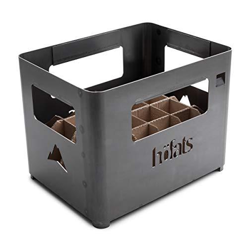 höfats - BEER BOX Feuerkorb - Getränkekiste, Feuerkorb, Grill und Hocker in einem - für Garten und Terrasse - Corten-Stahl - Rost-Optik