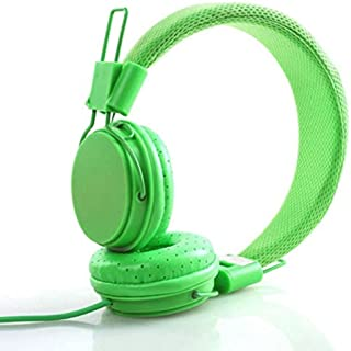 BEESCLOVER Kids Wired Ear Headphones Stylish Headband Earphones for iPad Tablet Orange