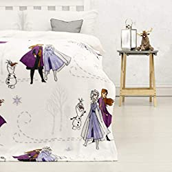 Frozen Olaf design: your little ones can cosy up to this fluffy Frozen 2 throw. Featuring both Anna and Elsa, as well as everyone's favourite magical snowman Olaf Officially licensed: ensure you receive premium quality with our officially licensed UK...
