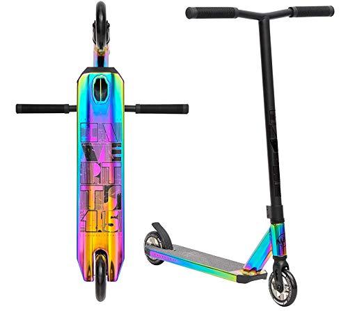 Invert TS1,5 V2 Stunt-Scooter H=82cm oilslick Rainbow neochrome + Fantic26 Sticker