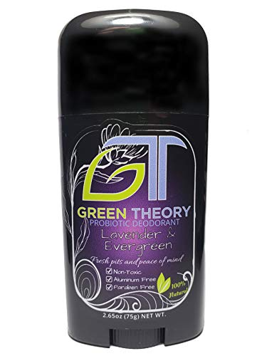 Green Theory Lavender and Evergreen Probiotic Natural Deodorant - Womens | Aluminum-Free, Non-Toxic, Essential Oils | 2.65 Ounce Solid Stick