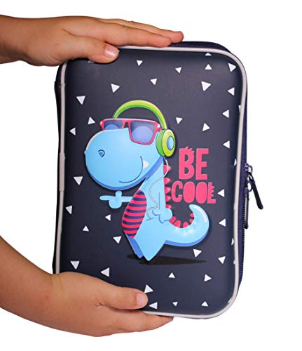 Dinosaur Pencil Case for Kids Stylish and Functional Perfect for Preschool, Kindergarten, and Elementary School | Get Organized with this Pen Holder With Compartments|Zipper Pouch for Boys or Girls