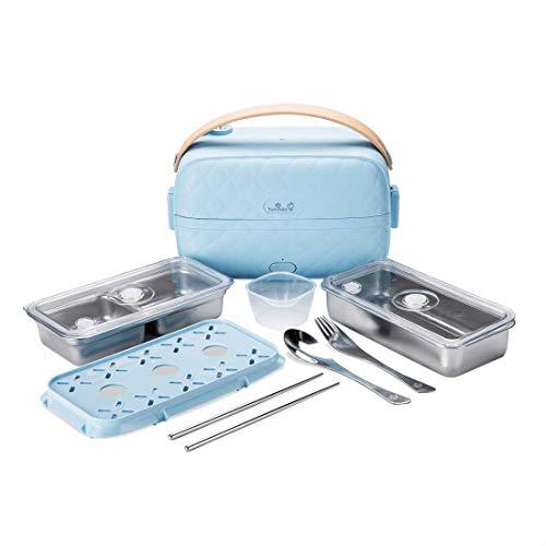 Yum Asia Bonsai Bento Reiskocher und Dampfgarer (0,2l, 1 Tasse), 220-240V UK/EU-Stromversorgung (Sky Blue)