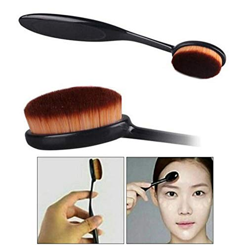 StyleBest Pro Cosmetic Makeup Poudre de Maquillage pour Le Visage Brosse à Dents Curve Liquid Foundation Blending Brush, Crème Concealer Rouge, Beauty Cosmetics Kit de Maquillage a