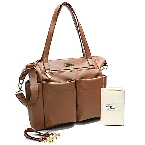 Nappy Changing Bags Baby Changing Bag Backpack Miss Fong Leather Tote...