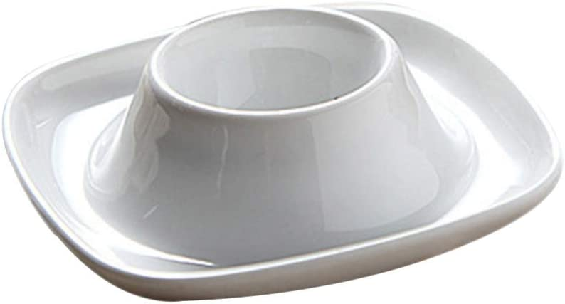 Cabilock 2pcs Ranking TOP18 Ceramic Egg Holder Cups Stands OFFicial site Boiled Hard for