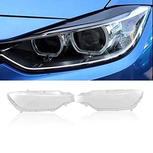 JXSMQC Faros Delanteros de Coche Pantallas de lámpara Transparentes Carcasa de lámpara Lente de Faro.para BMW F30 F31 3 Series 2013-2016