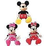 dingtian Peluche 3 Unids / Set 60 Cm Mickey Y Minnie Mouse Muñecas De Peluche De Felpa Decoración para El Hogar Regalos De Cumpleaños para Niños Niños