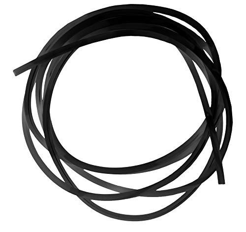 eeddoo Piercing Schnur zum Ersteinsatz Schwarz PTFE 1,2 x 50 cm mm