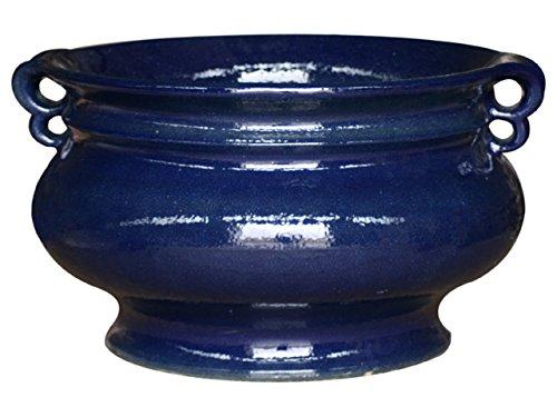 K & K plantenbak Capella 60x37 cm, BLAUW, van vorstbestendig aardewerk keramiek (5 jaar garantie)