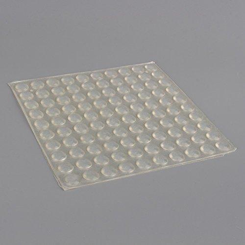 Akozon Stoßstangen-Aufkleber, 100 Stück, selbstklebende Silikon-Füße, halbrund, Tür, Möbel-Pad, 8 x 2,5 mm, selbstklebende Stoßstangenfüße