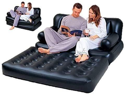 Cfbcc Gartenmöbel Aufblasbarer Garten Sofa Lounge Blow Up Doppelluftmatratze Multifunktions-Couch Camping Matratze Airbed for 2 Personen