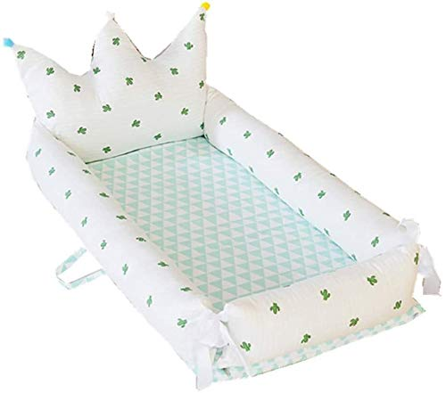 YYhkeby Cuna plegable portátil de algodón de doble capa, colchón biónico multifuncional para bebé recién nacido, cama Nido Detac. Jialele (tamaño: B)