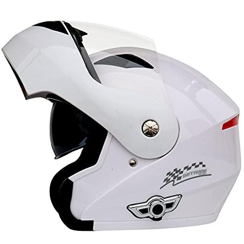 Bluetooth Casco Moto Modular Certificado ECE Cascos de Moto Integral Hombre Mujer con Doble Visera para Motocicleta Scooter, Casco Moto con Bluetooth Integrado ( Color : G , Size : (M/57-58CM) )