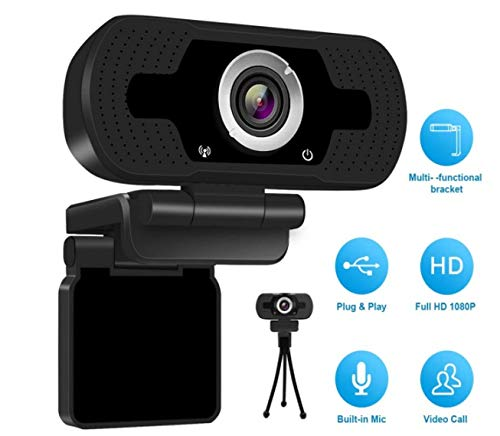 Full HD 1080P Webcam USB Computer Camera Desktop Laptop Web Camera for Computer with Microphone for Video Calling Conference YSJ