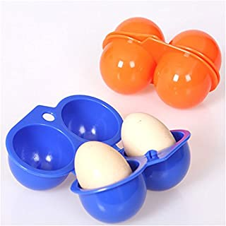 RUNGAO Portable Egg Storage Box Container Hiking Outdoor Camping Carrier For 2 Egg Case