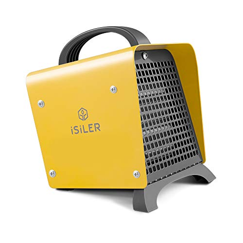 ISILER Space Heater, 1500W Portable Indoor Heater, Ceramic Space Heater Adjustable Thermostat...