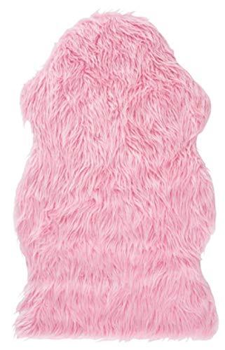 IKEA TEJN Lammfellimitat in rosa; (100x60cm)