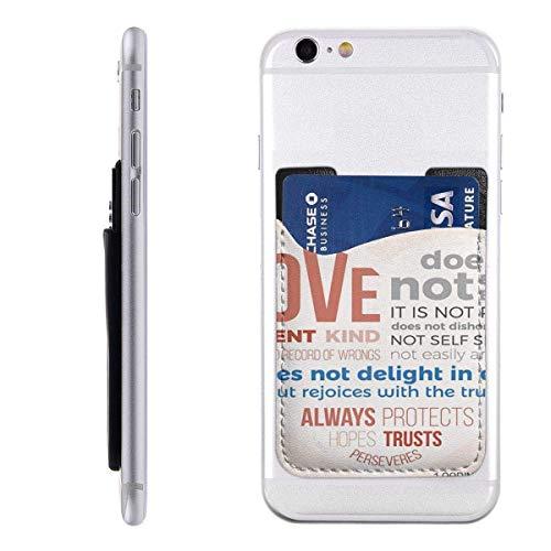 Interieur shop Mobile Card Wallet portemonnee, Pocket ID Credit card SleeveLove is patiënt