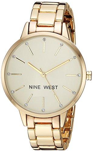Nine West Reloj analógico para Mujeres de Cuarzo japonés con Correa en Aleación NW/2098CHGB