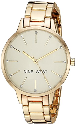 Reloj Nine West Fall Winter 2017 para Mujer 36mm, pulsera de Acero Inoxidable
