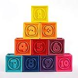 LZ Bloques de construcción Puzzle Bricolaje Suave Pegamento Bloques del Juguete del bebé Cognición Relieve Suave Building Blocks Silicona