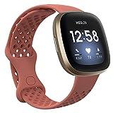 Compatible con las bandas Fitbit Sense y Fitbit Versa 3, bandas deportivas de repuesto de silicona para relojes inteligentes, correas de reloj flexibles e inocuas e inocuas para