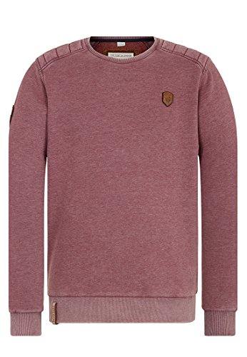 Naketano Male Sweatshirt First Blood Heritage Bordeaux Melange, M