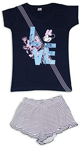 Disney - Pijama Corto para Mujer (algodón) Azul Minnie - Amor XL