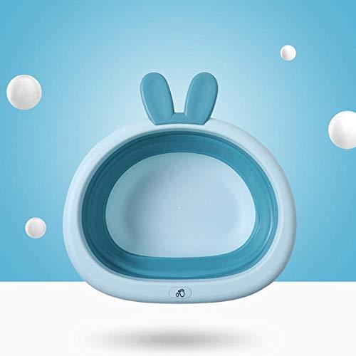 PLBB3K Lavabo Plegable Cuarto de baño portátil Plegable bebé recién Nacido bebé Lavabo Inicio Lavar plástico Cesta de la Ropa Accesorios de Almacenamiento Suministros-Blue Sky Palangana Plegable