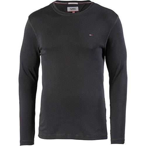 Tommy Jeans Original Rib Camisa, Negro (Tommy Black 078), Small para Hombre