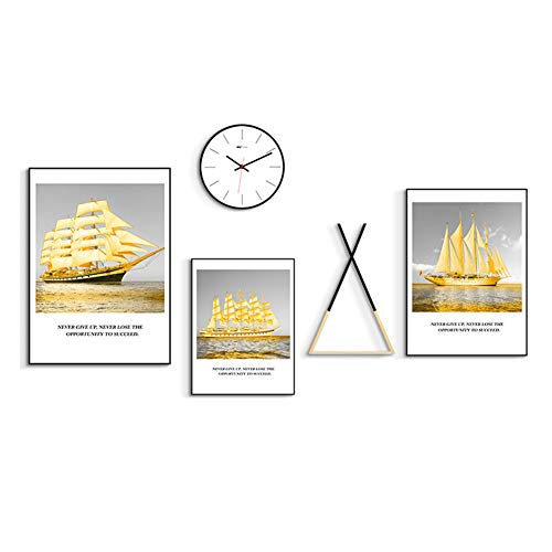 YL Schilderij Kunstmuur 5 Stuk Set Moderne Eenvoudige Scandinavische Woonkamer Slaapbank Achtergrond Muurdecoratie Schilderij Ophangende Fotobehang