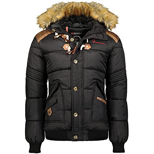 Geographical Norway Chaqueta de invierno para hombre, acolchada (Negro, L)