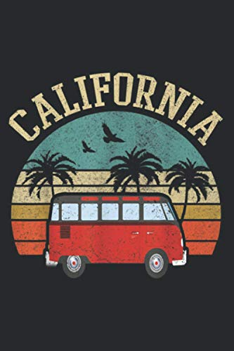 California Hippie Van Outfit Surf Ca Vintage Surfer Gift: Plan Your Day In Seconds: Notebook Planner, Daily Planner Journal, To Do List Notebook, Daily Organizer