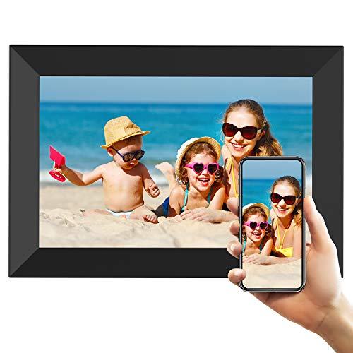Marco de Fotos Digital WiFi Pantalla táctil IPS de 8 Pulgadas HD Marco de Fotos Inteligente con Almacenamiento de 16GB Girar Compartir Fotos o Videos a través de la aplicación Frameo