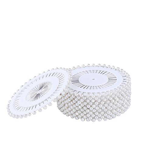 DECORA 480 Pieces Silver Round Pearl Head Straight Pins for Hand Crafts and Sewing Projects Decoration.
