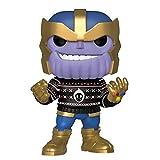 Funko - Pop! Bobble Vinyle Marvel: Holiday - Thanos Figura Coleccionable, Multicolor (43336)
