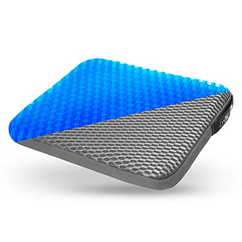 NU NUVO Gel Seat Cushion Relieves Sciatica Back Pain Breathable For Office Driver Car Seat Pad Enhanced Chair Pillow Pad Comfort Honeycomb Design Absorbs Pressure 16x14x1.6