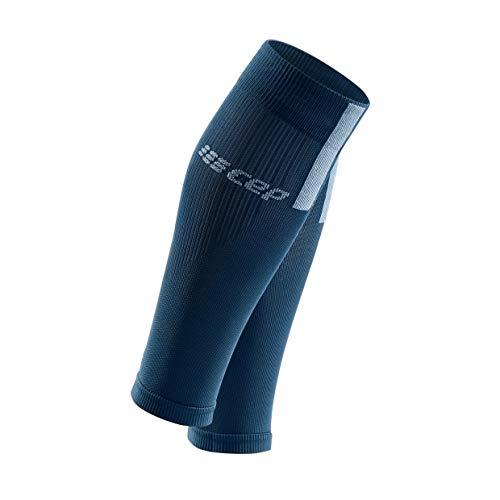 CEP – Calf Sleeves 3.0 für Herren | Beinstulpen für exakte Wadenkompression in blau/grau | Größe III