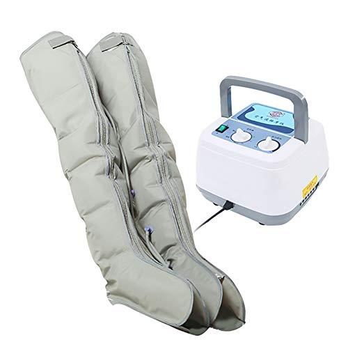 ZBAM Compressione dell'Aria sequenziale Massaggiatore per Gambe per Gambe e Aria del Piede Macchina per Massaggio a Compressione per Vitello e Piede Massaggio circolatorio con 6 Cuscini d'Aria