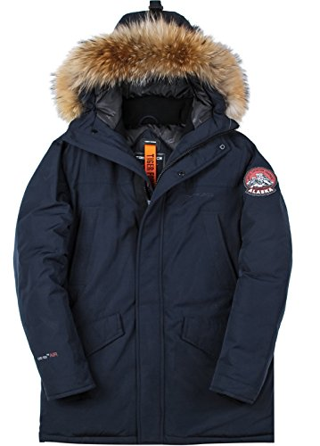 Molemsx Men's Parkas with Hoods,Mens Winter Coat Patch Alternative Down Parka Coats for Men Insulated Windproof Hiking Fishing Coats Hood with Faux Fur for Cold Weather Black XX-Large