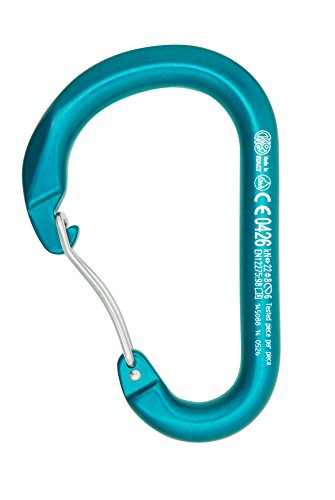 KONG Mousqueton Paddle Wire Bent Gate, Bleu