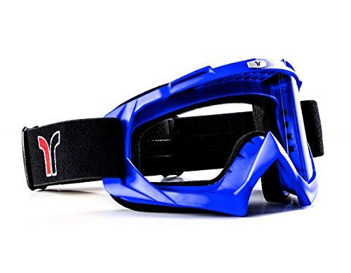 RB-970 Crossbrille Endurobrille Quadbrille Motocrossbrille rueger, Farbe:Blau