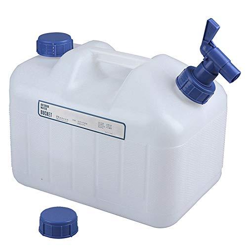 Coche al Aire Libre PE Cubo de la categoría alimenticia contenedor portátil de Almacenamiento de Agua con Grifo para Camping Auto-conducción (10L)